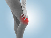 Human knee pain joint problem medical health care concept. Stock Images