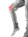 Human knee pain medical health care concept. Stock Photography