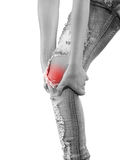 Human knee pain medical health care concept. Royalty Free Stock Photos