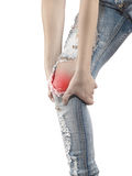 Human knee pain medical health care concept. Stock Photos