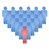 Human leader paper art Stock Photography