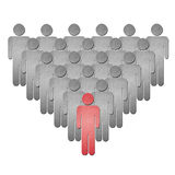 Human leader team paper art Royalty Free Stock Images
