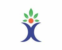 Human Leaf Logo Template. Logo, human leaf logo, logo design, leaf logo, human logo Stock Illustration