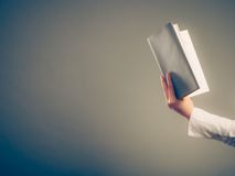 Human learning reading book. Education leisure. Stock Photos