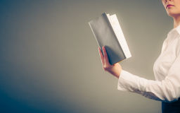 Human learning reading book. Education leisure. Stock Image