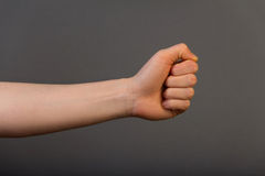 Human left fist Stock Images