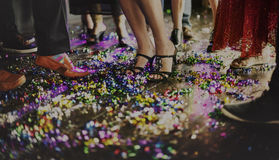 Human Leg Dance Hall Party Recreation Concept. People Dance Hall Holiday Party Celebration Royalty Free Stock Images