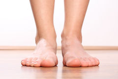 Human legs, Foot stepping Royalty Free Stock Images