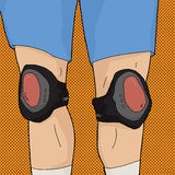 Human Legs with Knee Pads Stock Photography