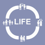 Human Life Cycle Process Stage Development Pictogram Icon, for design presentation in  Royalty Free Stock Photos