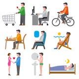 Human life icons vector illustration