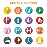 Human life long shadow icons Royalty Free Stock Image