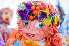 Human like Masenitsa smiling doll in Russia Royalty Free Stock Photography