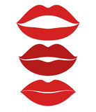 Human lips.  Icon set Royalty Free Stock Photo