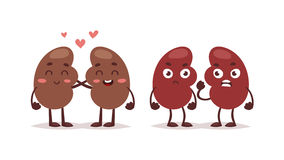 Human liver characters vector. stock illustration