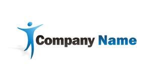 Human logo. Blue Human logo illustration on a white background Royalty Free Stock Photos