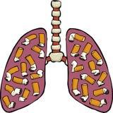 Human lung ashtray Stock Image