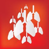 Human lung icon. Medical background. Health care Stock Photos