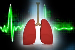Human lungs. In abstract   background Stock Photo