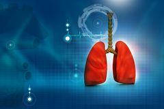 Human lungs. In abstract digital design Royalty Free Stock Photos