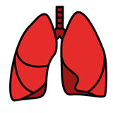 Human Lungs Symbol Stock Images