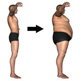 Human man fat and slim concept  Royalty Free Stock Photos