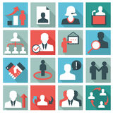 Human management icons Royalty Free Stock Images