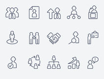 Human management icons Stock Photography