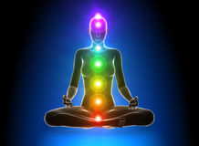 Meditation - Chakras stock images