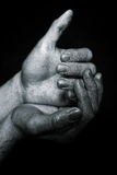 Human metal hands folded handful Royalty Free Stock Photography