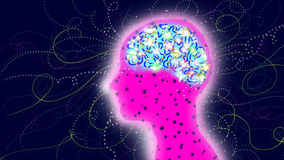 Human mind. Brain, neurons, neurology Royalty Free Stock Photos