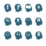 Human mind icons style flat design eps 10 Stock Photo