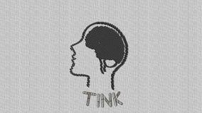 Human mind that illustrates people who think stock illustration