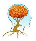 Human mind. On a white background stock illustration