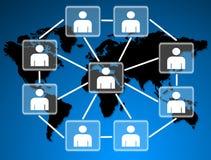 Human models connected together in social network. Human models connected together in a social network Vector Illustration
