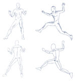 Human in motion artistic sketch Royalty Free Stock Photo