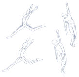 Human in motion artistic sketch Stock Image