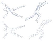 Human in motion artistic sketch Stock Photography