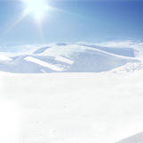Human on mountain, winter, snow Stock Images