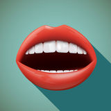 Human mouth. Stock illustration. Royalty Free Stock Photography