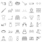 Human nature icons set, outline style. Human nature icons set. Outline set of 36 human nature vector icons for web isolated on white background Stock Photos