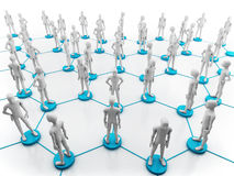 Human network Stock Image