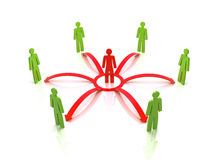Human network. Royalty Free Stock Photo