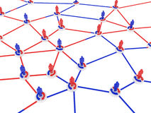 Human network. A communication network for building success business Royalty Free Stock Photo