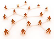 Human network Royalty Free Stock Photography