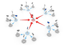 Human network Stock Image