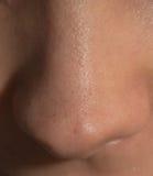 Human nose macro shot . Background Stock Photos