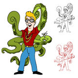 Human Octopus. An image of a swinger with octopus arms Royalty Free Stock Photo