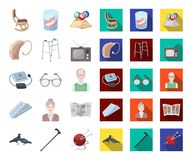 Human old age cartoon,flat icons in set collection for design. Pensioner, period of life vector symbol stock web. Human old age cartoon,flat icons in set royalty free illustration