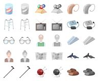 Human old age cartoon,monochrom icons in set collection for design. Pensioner, period of life vector symbol stock web. Human old age cartoon,monochrom icons in stock illustration